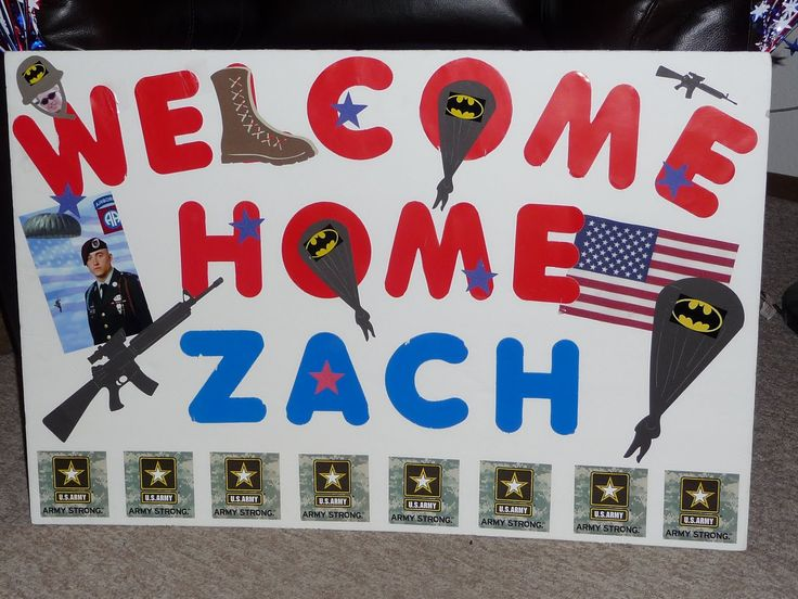 1000 ideas about welcome home posters on pinterest for Military welcome home party decorations
