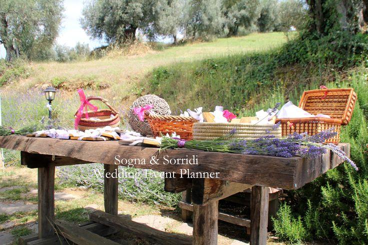 wedding favors table