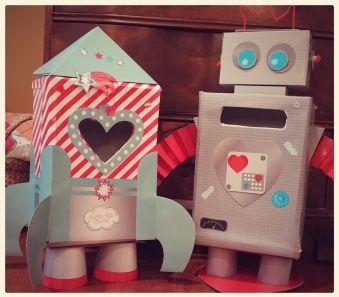 Valentine Box Kits...Robot U0026 Rocket Ship