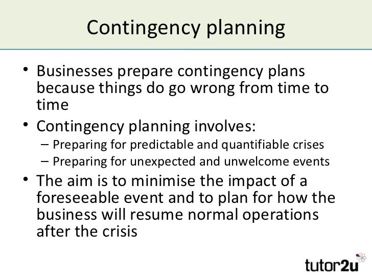 Contingency Plan Example How To Plan Contingency Plan Business