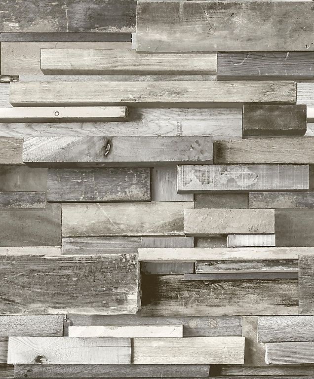 This Wallpaper Features A Photographic Print Of Stacked Wooden Blocks And Is Ideal For Adding A Rustic Look To Your Wall Wallpaper Wooden Wallpaper Faux Walls