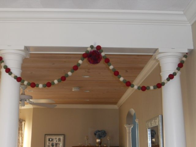 a little garland and a kissing ball.