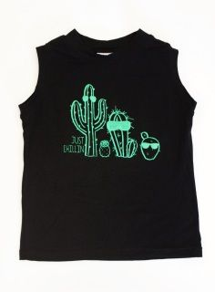 """Light weight and breathable bamboo with our original cactus art in a kelly green screen!  All of our t-shirts are made by us in house. Professionally serged, printed and finished.   Shirts fit slim. Size up if concerned about sizing at all.  Ready to ship and in limited quantity. Once they are sold they are gone.  PLEASE NOTE WE HAVE LENGTHENED OUR SIZES AS OF JUNE 2017 Appx. Measurement from shoulder to hem in inches. 6-12m - 13"""" 12-24m - 15"""" 2t - 16.5"""" 4t - 19"""" 6y - 20.5"""" 8y - 22"""""""