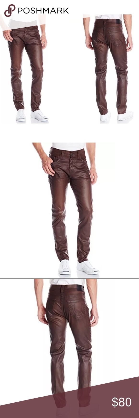 True Religion Men's Dean Tapered Brown 31 True Religion Men's Dean Tapered Leatherlike Pant In Brown, Brown, 31. New. Retail for $248 True Religion Jeans Straight