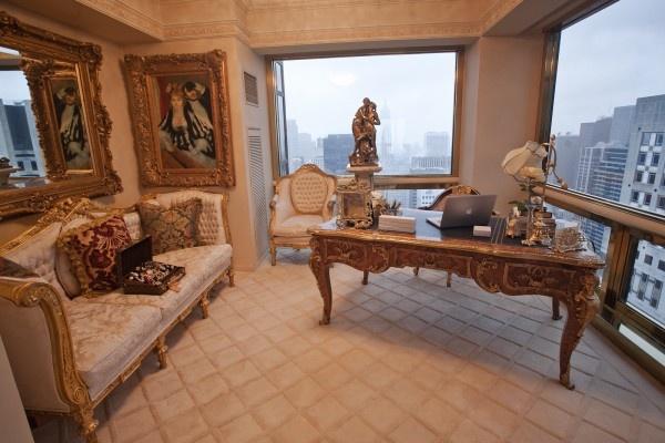 Peek Inside Melania Trump's World (And Penthouse!) Melania's incredibly ornate office.