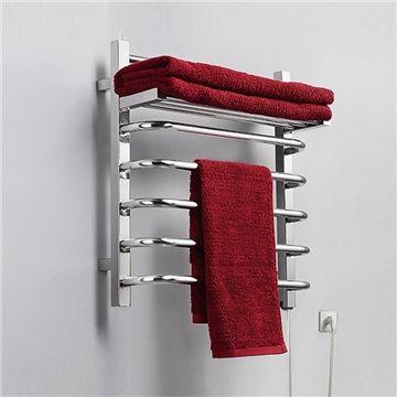 Heated towel shelf