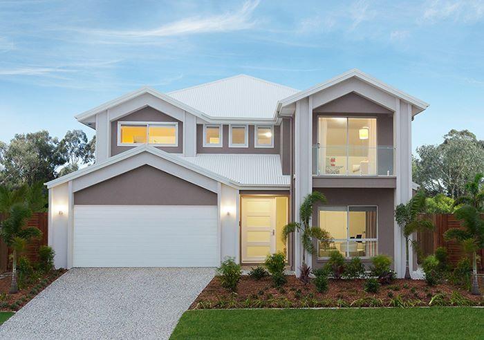 villa moderna a 2 piani con garage facciata home