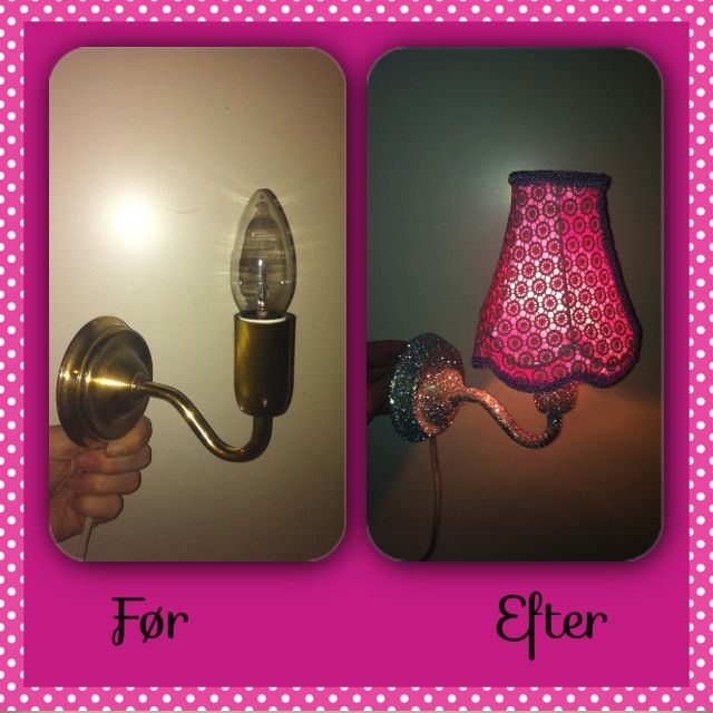 Glitter lampe