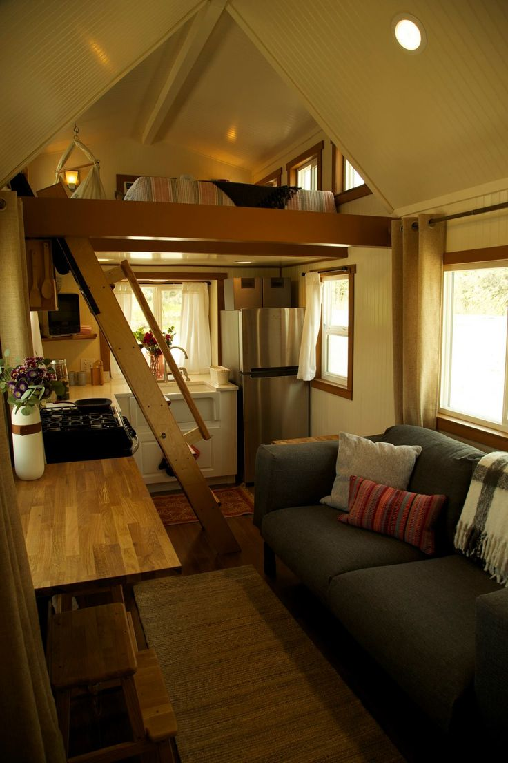 300 sq. ft. (incl. lofts) Custom Craftsman on Wheels Featured on Tiny House Nation