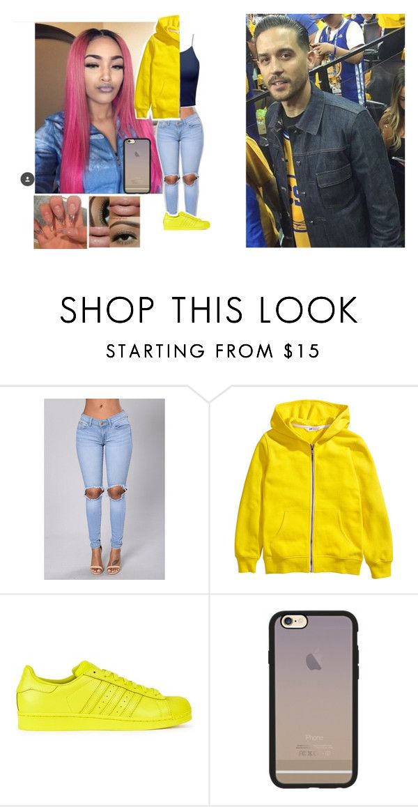 """💎Ashley & Gerald💎Going To The Warriors Basketball GAme."" by geazybxtch24 ❤ liked on Polyvore featuring beauty, adidas Originals and Casetify"