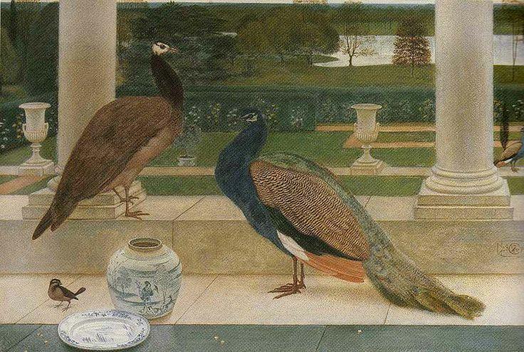Walter Crane - Peacocks