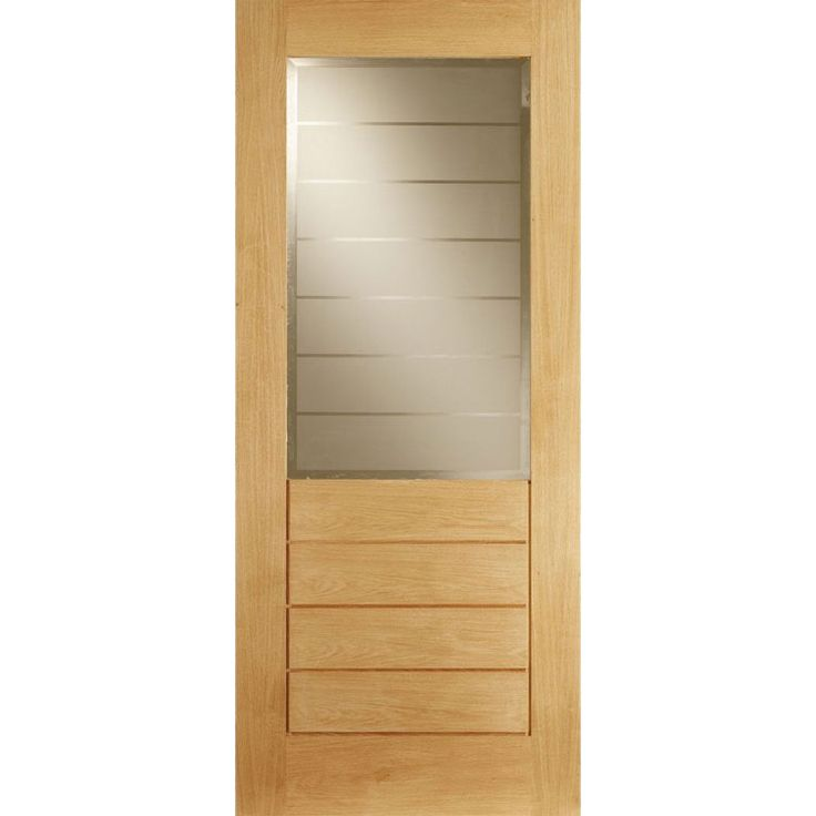LPD Contemporary 1L/4P Door, 78 High x 33 Wide, Unfinished Salvador Oak