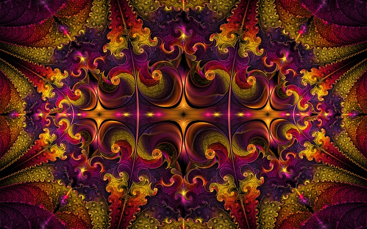 """Are You Passionate About Colors?"" by Patricia Maschke on http://Shadowness.com/Anyzamarah #Anyzamarah #Inspiration #Fractal #Art"