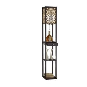 Elegant Designs 1 Light 71 In Restoration Bronze Torchiere Floor Lamp With Marbelized Amber Glass Shade Lf2001 Rbz The Home Depot In 2020 Shelf Lamp Floor Lamp With Shelves Floor Lamp