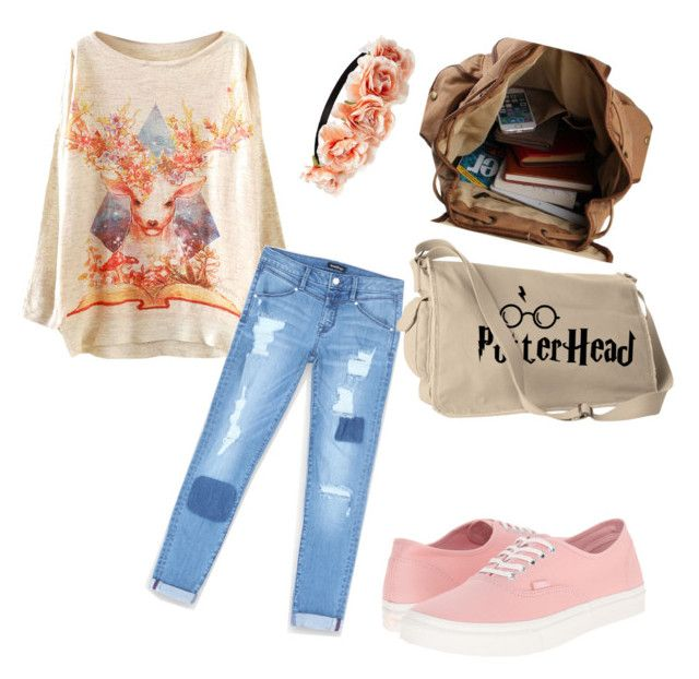 """""""Untitled #364"""" by percyjacksonfangirl2 on Polyvore featuring WithChic, Bebe, Forever 21 and Vans"""