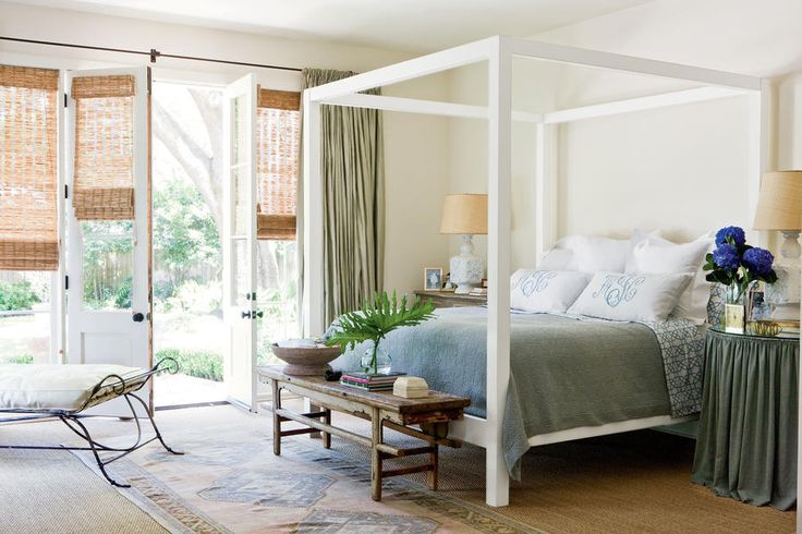 Peaceful in blue grays beautiful blue bedrooms gardens for Peaceful master bedroom designs