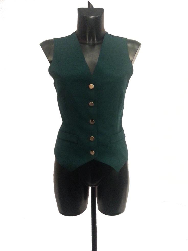 Ladies Waistcoat Bottle Green £9.99 #BIZITALK #LOCATEBIZ