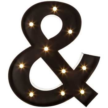 Black led marquee ampersand design ideas pinterest for Metal marquee letters hobby lobby