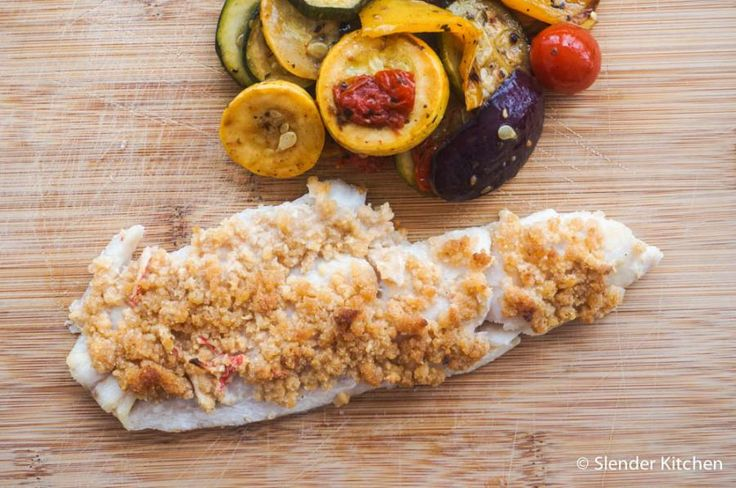 Baked (or Grilled) Haddock with Seafood Stuffing | Slender Kitchen