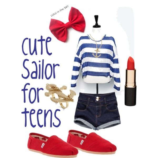 """Cute Sailor costume for teens"" by costumes-for-girls on Polyvore"