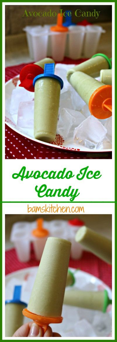 AVOCADO ICE CANDY Only 3 Ingredients, super Easy to make, gluten-free, Dairy Free and can be made Diabetic Friendly! /http://bamskitchen.com
