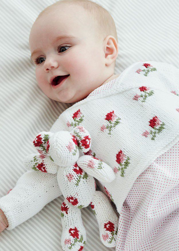 Rosebud Crossover in Debbie Bliss Eco Baby - Digital Version   Free Knitting Patterns   Knitting Patterns   Deramores