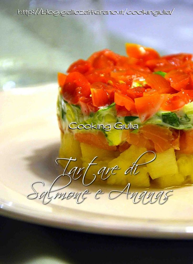 tartare di salmone e ananas | antipasto esotico | cooking giulia