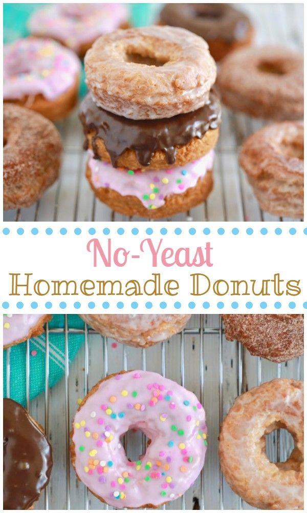 No Yeast Homemade Easy Donut Recipe Donut Recipe No Yeast Easy Donut Recipe Baked