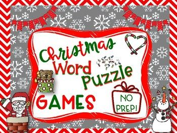 The weeks leading up to Winter/Christmas break can be an interesting time of the year. At my school, students take their final tests before the end of the semester, leaving us with some extra time. These puzzles are just what your students need to stay engaged and have some fun!