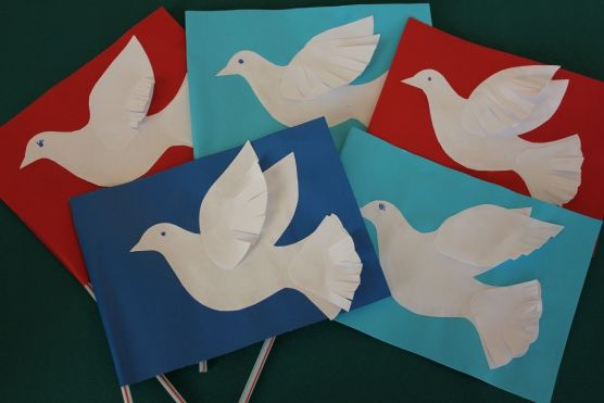 Поделки к 9 мая: голубь мира