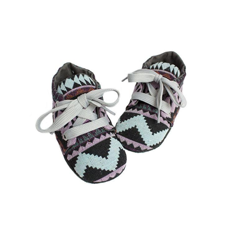 Aztek babyschoentjes - Studio LL - babyshoes handmade