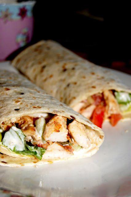Zdrowa Kuchnia Sowy: Pełnoziarniste wrapsy z kurczakiem