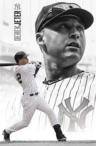 Derek Jeter Yankee Forever New York Yankees MLB Baseball Poster - Costacos 2014