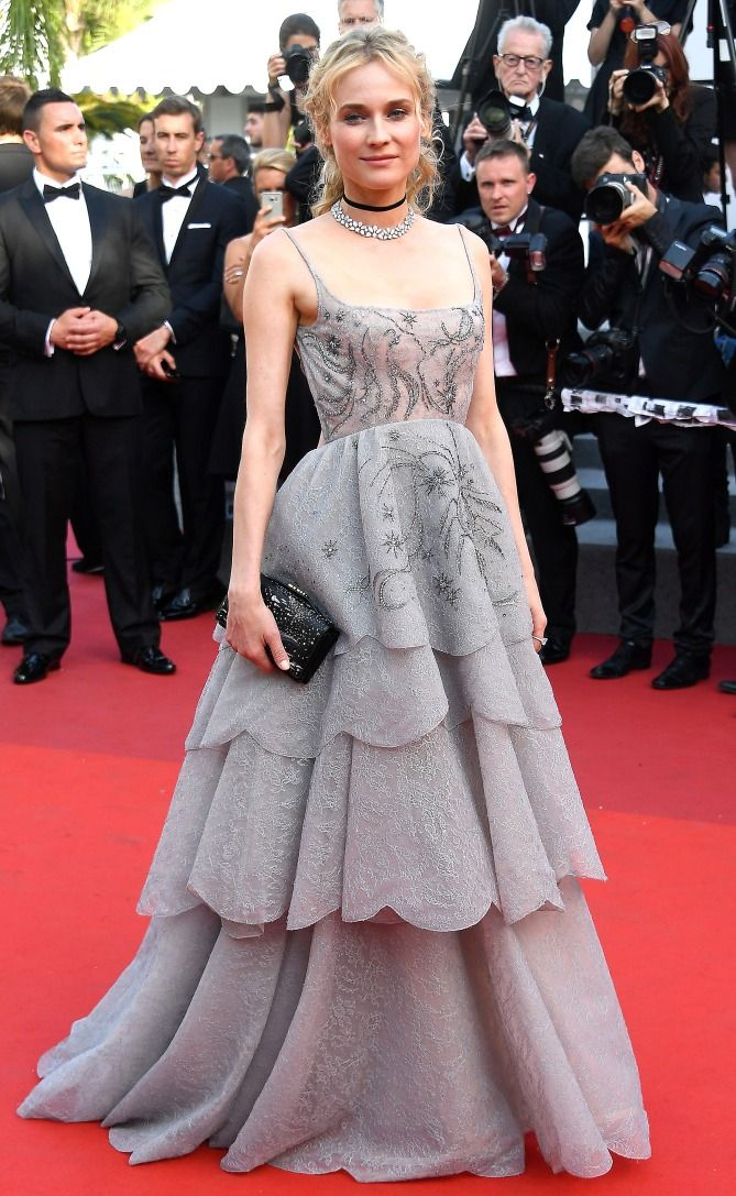 Best Dressed Stars on Cannes Red Carpet 2017 - Diane Kruger in a Dior Haute Couture dress