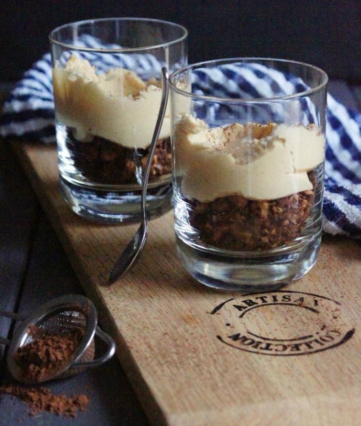 Peanut butter cups with chocolate nut granola