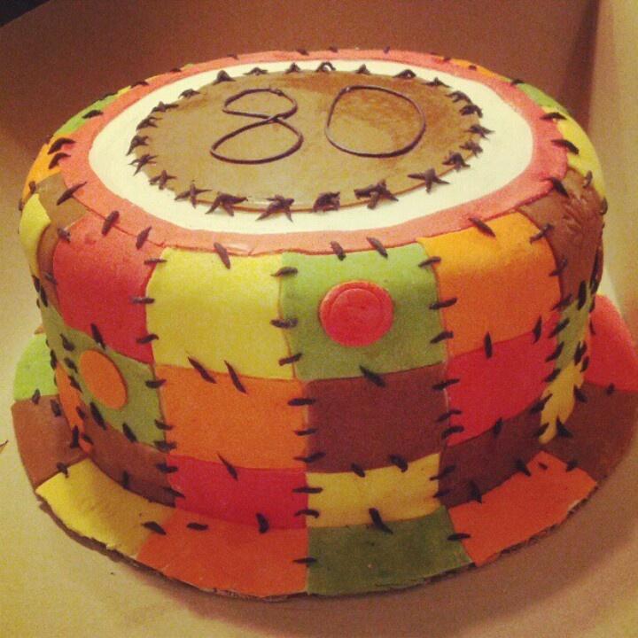 Quilting Cake Decorating : 31 best Quilt Cakes images on Pinterest Quilted cake, Cake decorating and Patchwork cake