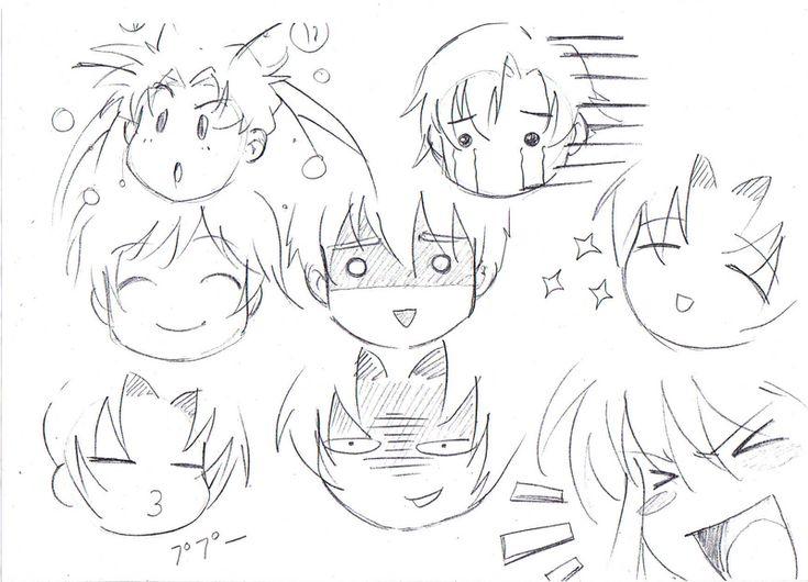 expresiones del rostro anime - Buscar con Google