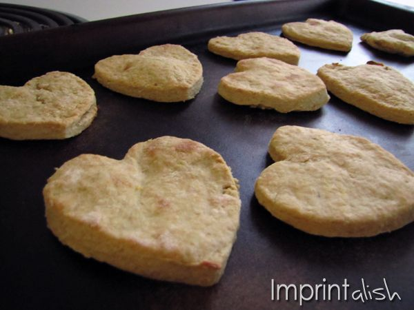 Home made teething biscuits, a way to use up infant cereal.