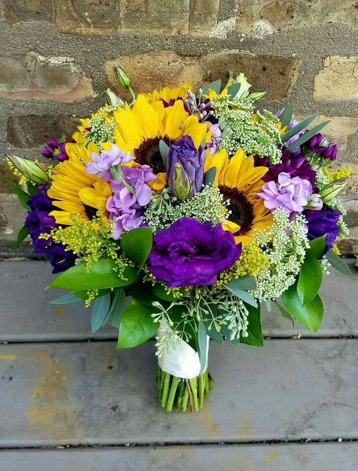 Wedding Flowers Cost Perth Purple Sunflower Wedding Bridal Bouquet Fall Wedding Flower Girl Basket