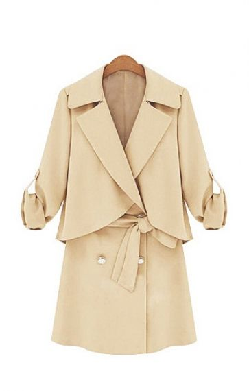 lapel trench coat