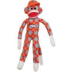 Denver Broncos Argyle Sock Monkey