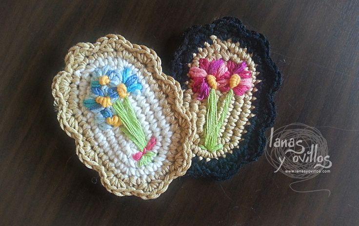 Broche vintage crochet - Patrón gratuito