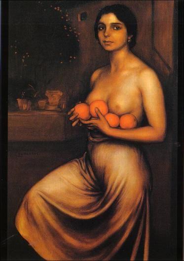 Naranjas y limones. 1928. Oleo y temple sobre lienzo. 104 x 74.5 cm. Museo Julio Romero de Torres