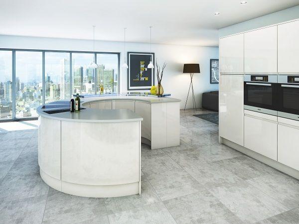 Malmo Gloss Handle-less kitchens at Valentino Kitchens UK