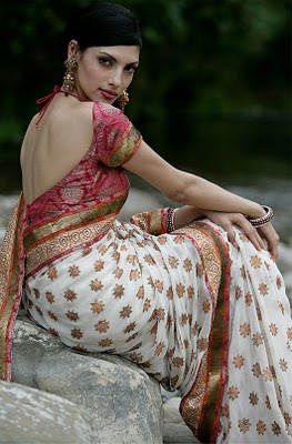 Open Back #Saree Blouse ~ Queen Of Heaven...