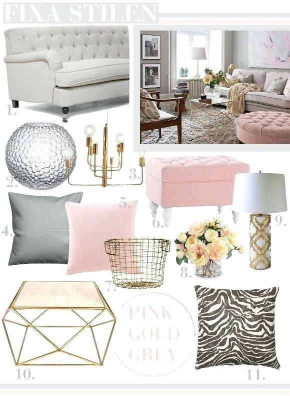 Image Result For Grey And Blush Living Room Ideas Rumsinredning Guld Sovrum Inredning