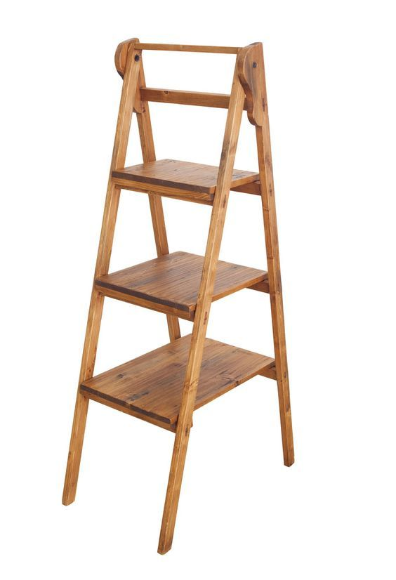 Vintage Library Ladder -  - $232.20  We love this versatile library ladder complete with 3 removable shelves. The ladder is decorative only but…