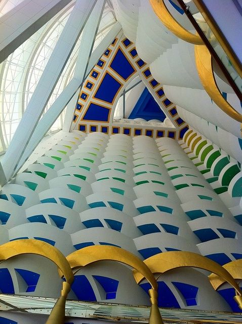 The Burj Al Arab, Dubai - Great to see different peoples perception of luxury interiors. Champagne afternoon tea in the Skybar is a must! #dubai #uae