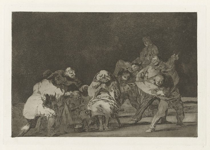 Francisco Goya, Spanish, 1746–1828, La lealtad (Loyalty), also known as El que no te ama, burlando te difama (He Who Does Not Like Thee Will Defame Thee in Jest), from the series Los disparates (Los proverbios) ca. 1816–19, published 1864 (first edition) Etching and burnished aquatint platemark: 24.4 x 35.3 cm (9 5/8 x 13 7/8 in.) The Arthur Ross Collection 2012.159.40.18. Photo credit: Yale University Art Gallery.