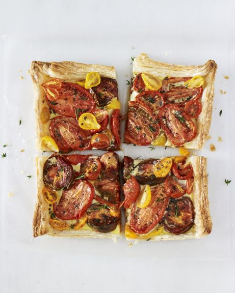 Roasted Tomato Tart with Goat Cheese & Thyme